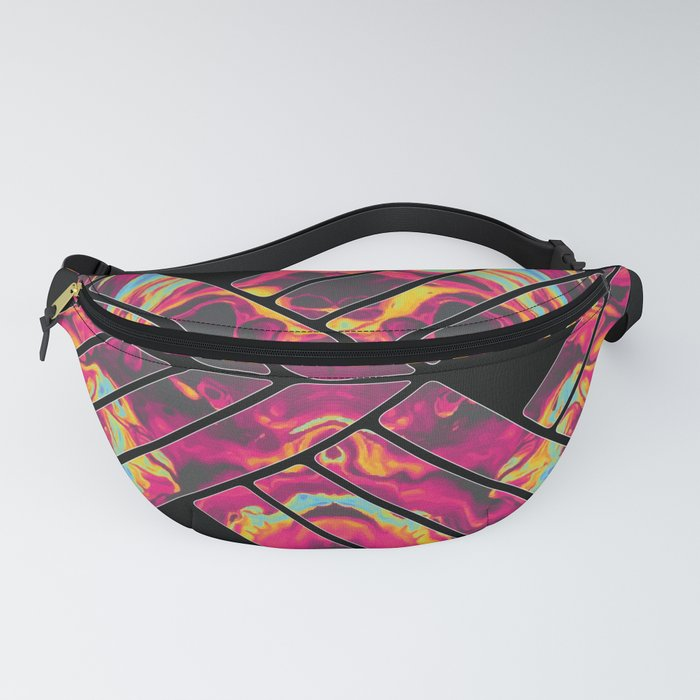 Stencil and Tie Dye Pattern Fanny Pack