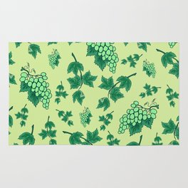 Seamless background from bunches of grapes Rug