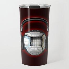 Headphone disco ball Travel Mug