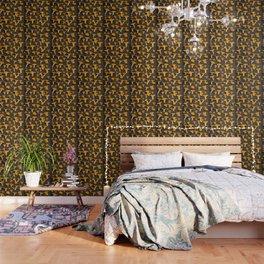 Chantterelles On A Dark Grey Background - Autumn Harvest - #Society6 #buyart Wallpaper