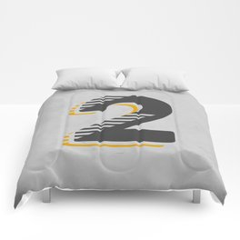Number 2 Typography Comforters