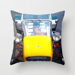 caterham, super seven, super 7, Lotus, classic cars, car, sports cars, british car, Throw Pillow