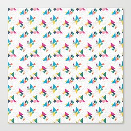 Deconstructed Tangrams Canvas Print