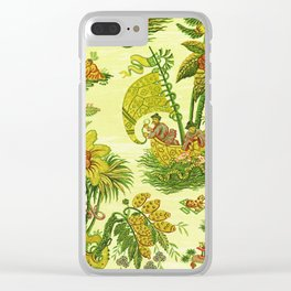 Chartreuse Chinoiserie Clear iPhone Case
