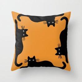 Black Cat(s) Throw Pillow