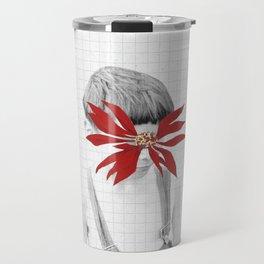 Flor de la Noche Bueno Travel Mug
