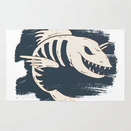 Fish Skull / Skeleton Rug