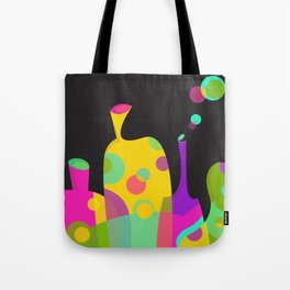 Colorful Funky Bottle Shapes II Tote Bag
