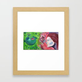 into the what? Framed Art Print