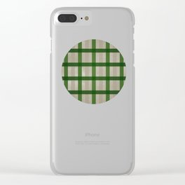 Evergreen Cozy Cabin Plaid Clear iPhone Case