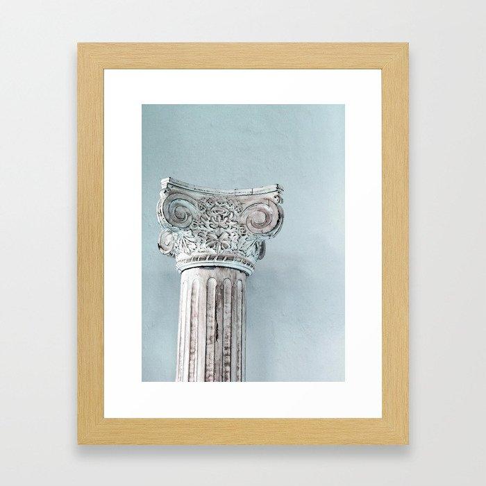 Corinthian capital Framed Art Print