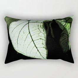 White Leaves Rectangular Pillow