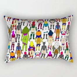 Superhero Butts - Girls Superheroine Butts LV Rectangular Pillow