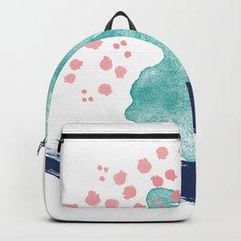 Coral and Sea Foam Backpack