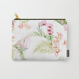 Orchid Isle, Pink Cymbidium Carry-All Pouch