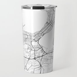 Madison Map White Travel Mug