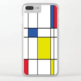 Mondrian 1 Clear iPhone Case
