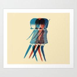 mod´s girl dancing Art Print