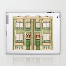 vintage town house Laptop & iPad Skin