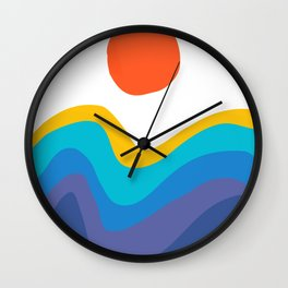 Abstract Y Minimum Colorful Pattern Wall Clock