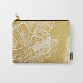 Gold Quebec map Carry-All Pouch