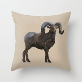 The Rocky Mountain Bighorn Sheep Throw Pillow