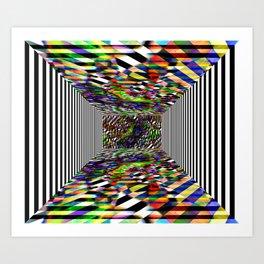 Colorblock box Art Print