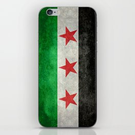 Independence flag of Syria, vintage retro style iPhone Skin