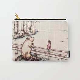 The Girl & The Beaver (or, Is It Alright if I Take Notes?) Carry-All Pouch