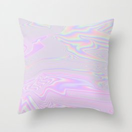 Pink Holographic Throw Pillow