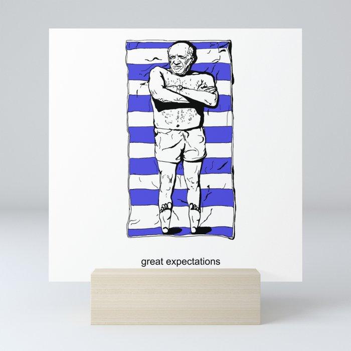 Picasso on the beach Mini Art Print