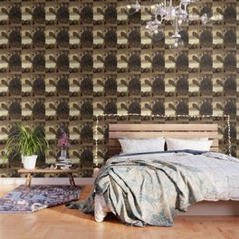 Steampunk Abstract Painting Wallpaper