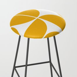 Mid Century Modern Yellow Square Bar Stool