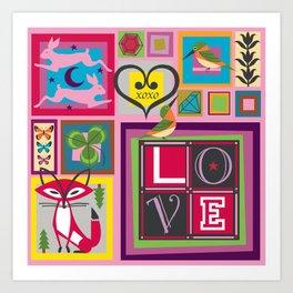 Love Square Art Print