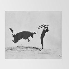 Bulls and bullfighters of Picasso II Throw Blanket