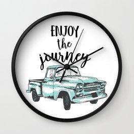 Enjoy the Journey Wall Clock