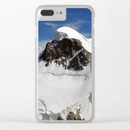 Breithorn Mountain Clear iPhone Case