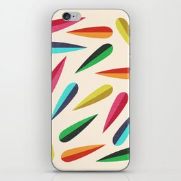 Feathers II Cascading Colors iPhone Skin