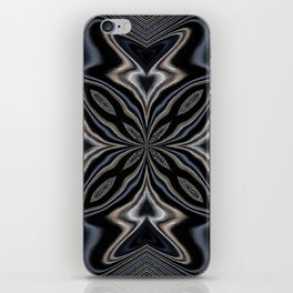 Deep Navy Blue Mandala iPhone Skin