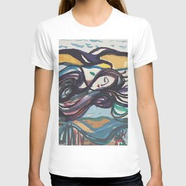 Leda and black swan T-shirt