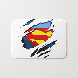 superhero torn - SuperMan Bath Mat
