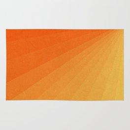 Shades of Sun - Line Gradient Pattern between Light Orange and Pale Orange Rug