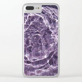 Lilac Bubbles Clear iPhone Case