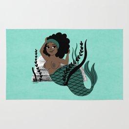 Black and Beautiful Mermaid Rug