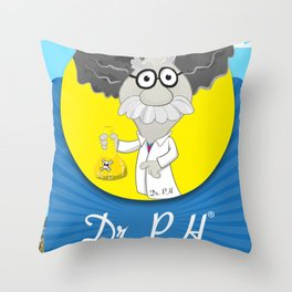 Dr. PH Throw Pillow