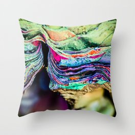 The Many Lives of Cadillac Ranch Throw Pillow