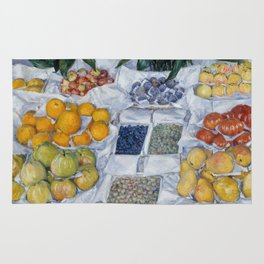 Gustave Caillebotte - Fruit Displayed on a Stand Rug