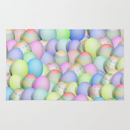 Pastel Colored Easter Eggs Rug