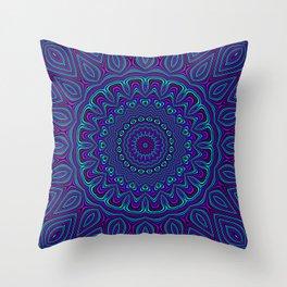 Trippy Kaleidoscope 2 Throw Pillow