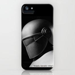Klaatu 1 iPhone Case